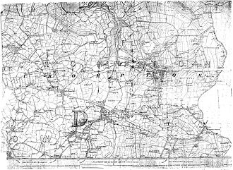 Shaw and Crompton - A map of Shaw and Crompton from 1851. Shaw was originally a village in the township of Crompton, but came to dominate the locality, winning preference as the name for the whole area.
