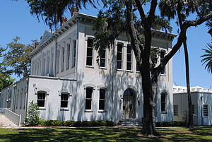 Green Cove Springs, Florida - The Old Clay County Courthouse.