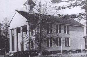 Glynn Academy - An undated photograph of the Old Glynn Academy Building