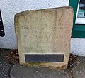 Old Greenan Bridge over the River Doon, Dedication stone with James Armour at the Toll House.jpg