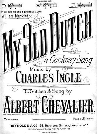 My Old Dutch (song) - Image: Olddutch