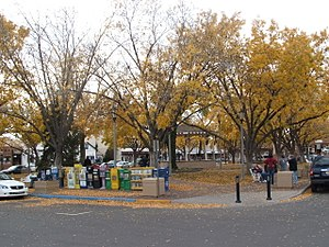 Old Town Albuquerque - Old Town Plaza in the autumn of 2006