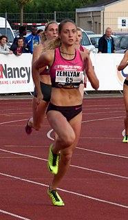 Olha Zemlyak Ukrainian sprinter