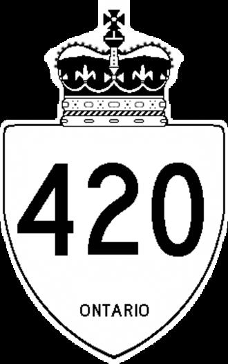 Regional Municipality of Niagara - Image: Ontario 420