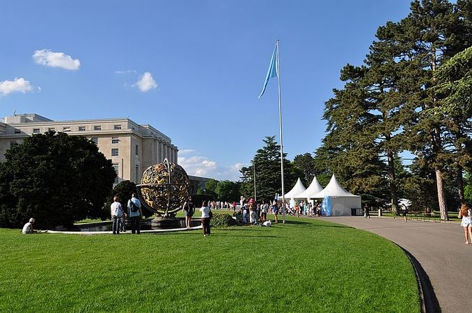 Open day at the Palais des Nations in the Ariana Park, 5 June 2010.