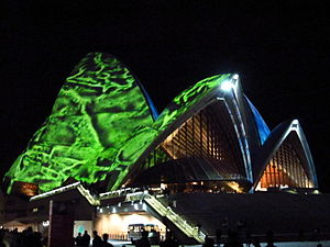 Sydney Opera House Luminous @ Vivid festival