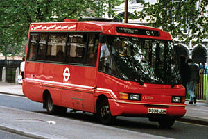 Optare CityPacer - A Optare CityPacer operated by London Buses