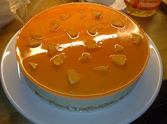 "Cheesecake - ""No bake"" cheesecake with orange jelly"