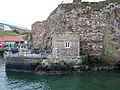 Ordnance Survey Tide Gauge House, Dunbar Harbour, East Lothian - view across entrance.jpg
