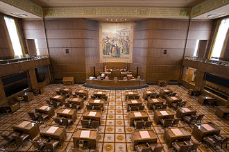 Oregon State Senate - Image: Oregon Senate Chambers Center