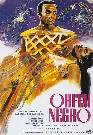 Black Orpheus - Poster by Helmuth Ellgaard for the German release