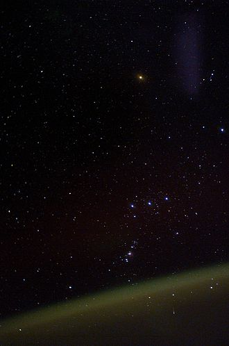 Sky brightness - Airglow made visible from aboard the ISS
