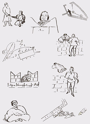 Stanislavski's system - Sketches by Stanislavski in his 1929—1930 production plan for Othello, which offers the first exposition of what came to be known as his Method of Physical Action rehearsal process.