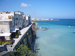 Otranto seen from the castle