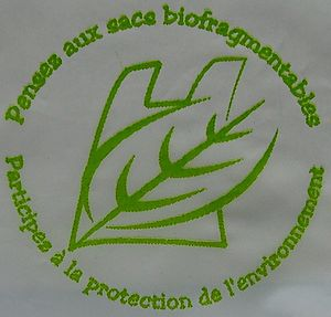Biodegradable bag - The seal of a biodegradable bag in French