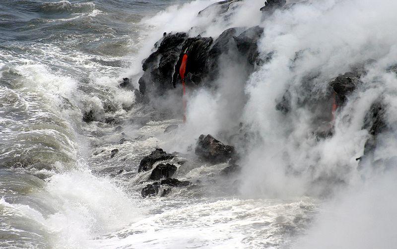 File:Pāhoehoe lava meets Pacific.jpg