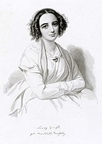 Fanny Mendelssohn Wilhelm Henseli joonistusel (1847)