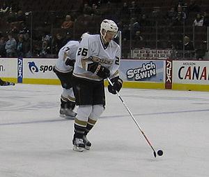 Samuel Påhlsson - Samuel Påhlsson of the Anaheim Ducks skates in a pre-game warm-up during the 2006–07 season.