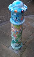 Painted Bollard, Winchester 13