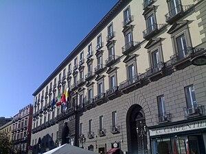 Palazzo San Giacomo, Naples - Palazzo San Giacomo façade