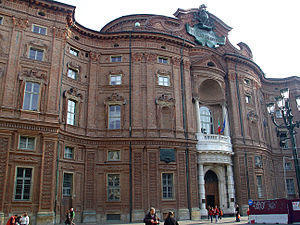 English: Palazzo Carignano, Turin: back from P...