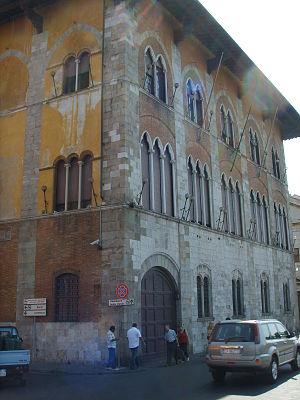 Palazzo Vecchio de' Medici, Pisa - Facade of Palace