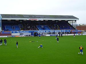 Palmerston Park - Image: Palmerston Park main stand