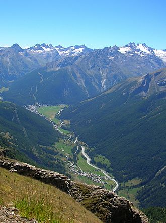 Cogne - Panorama of the Cogne Valley in August 2015.