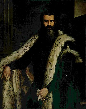 Portrait of Daniele Barbaro - ''A gentleman in ermine'' by Paolo Veronese, previously identified as Daniele Barbaro.