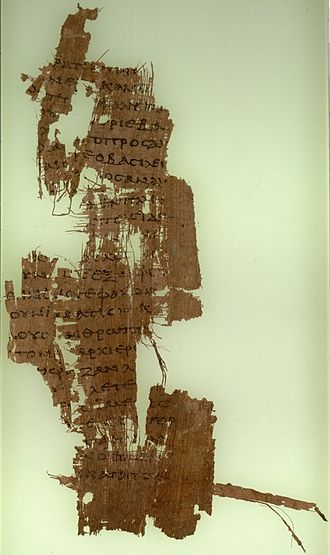 Chronology of Jesus - A Papyrus 90 fragment of John 19