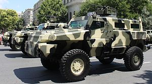 Economy of Azerbaijan - Marauder (Mine Protected Vehicle) is manufactured in Azerbaijan.