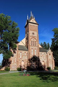 Paris, Idaho - Stone Tabernacle 1889.JPG