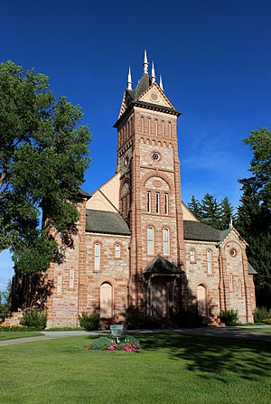 Paris, Idaho - Stone Tabernacle (Bear Lake Stake Tabernacle), c. 1889