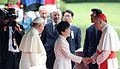 Park Geun-hye and Pope Francis and Pietro Parolin.jpg