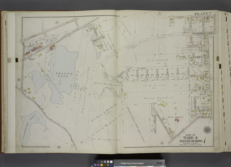 File:Part of Ward 4. (Map bound by Mosel Ave, Staten Island Rail Road, Rockwell Ave, Pennsylvania Ave, Clifton Ave, Tompkins Ave, Fingerboard Road, Grant Ave, Sherman Ave, Clover Ave) NYPL1646274.tiff