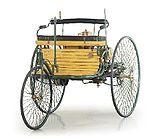 Benz Patent-Motorwagen Nr. 1/erste Automobilfahrt der Welt von Mannheim nach Pforzheim