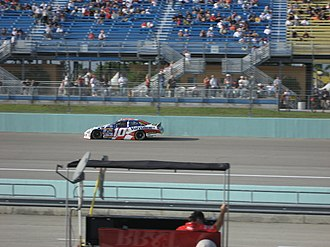 Patrick Carpentier - Patrick Carpentier practicing for the 2007 Ford 400 at Homestead-Miami Speedway