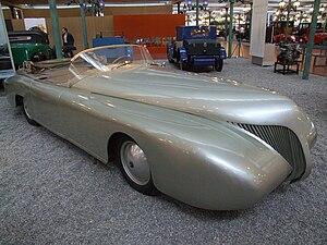Paul Arzens - Paul Arzens: La Baleine (the whale), 1938, 3500 ccm, 160 km/h, Cité de l'Automobile, Mulhouse