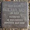 Stolperstein für Paul Karl Bach