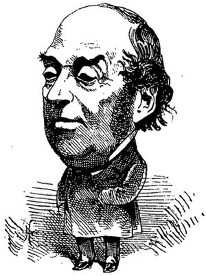 Paul Siraudin - Portrait of Paul Siraudin published in the Le Trombinoscope by Toutchatout in 1874.