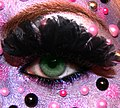 Pearled Purple eyeshadow with feather lashes.jpg