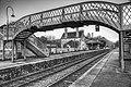 Pedestrian bridge, Corfe Castle railway station.jpg