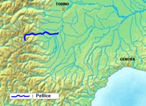 Pellice - Image: Pellice location