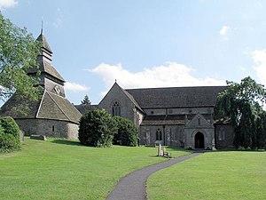 Pembridge - St Mary's parish church and (left) pyramidal belltower