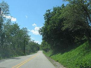 Pennsylvania Route 221 - Pennsylvania Route 221 as it passes through Washington Township.