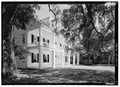 Perspective view looking from the southeast - Prudhomme-Rouquier House, 446 Jefferson Street, Natchitoches, Natchitoches Parish, LA HABS LA-1301-2.tif