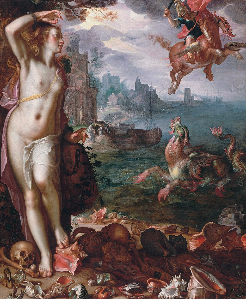 Persus and Andromeda by Joachim Wtewael