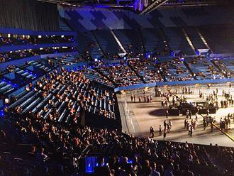 """Perth Arena - Inside Perth Arena at """"Plug Into Perth"""" concert, 2 November 2012"""