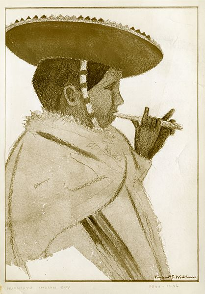 File:Peruvian boy playing flute, by Vincent Schofield Wickham.jpg