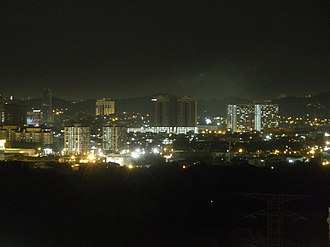Petaling Jaya - Image: Petaling Jaya Bird's Eye View At Night